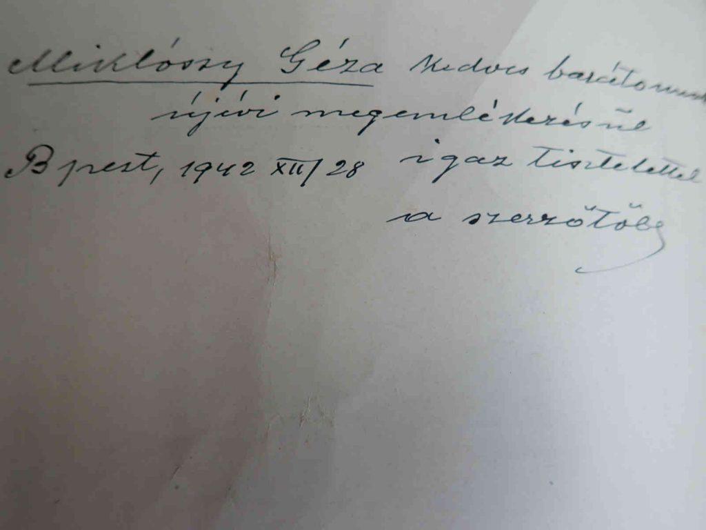 Kadic Ottokár aláírása
